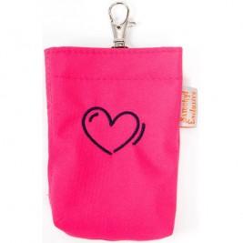 Kapsa na pytlíky suchý zip výšivka srdce růžová