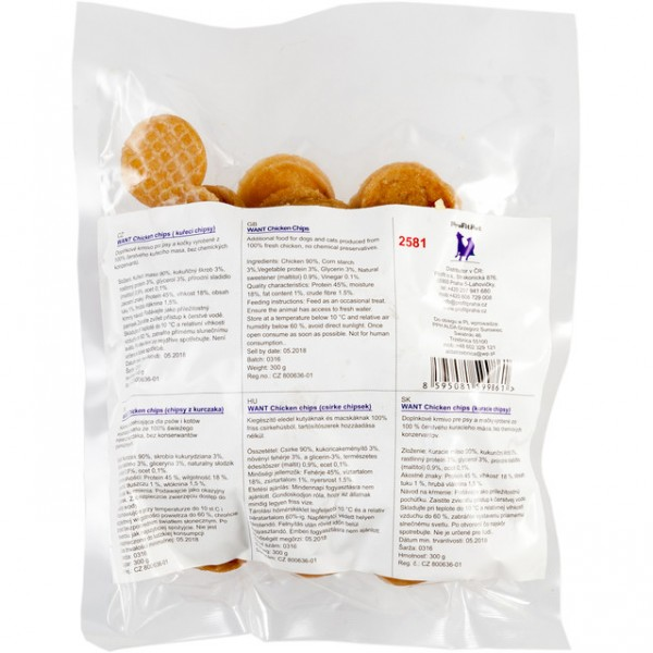 Want pamlsek - chipsy kuřecí 300 g