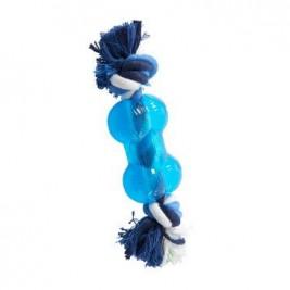 Hračka pes BUSTER Strong Bone s provazem sv. modrá, XS