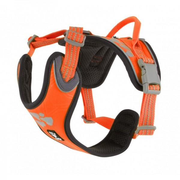 Postroj Hurtta Weekend Warrior neon oranžový 60-80 cm