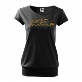 Luxusní tričko - Jsem psí máma - XXL