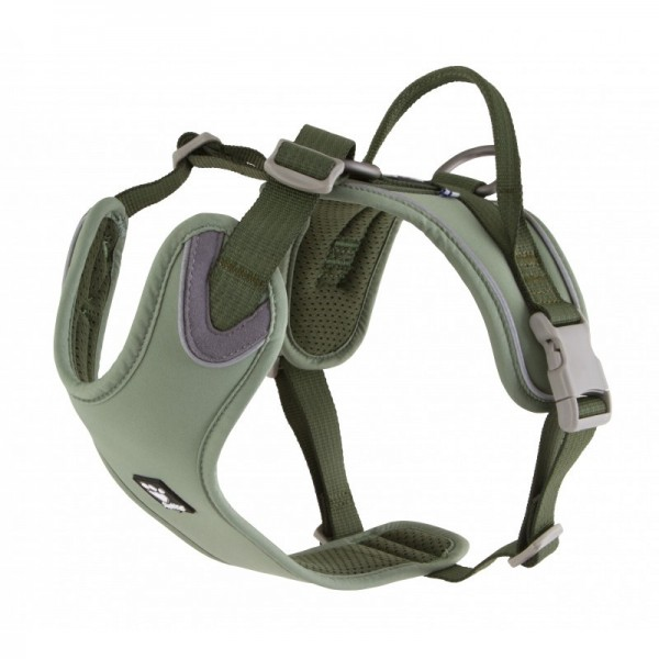 Postroj Hurtta Weekend Warrior ECO zelený 60-80 cm