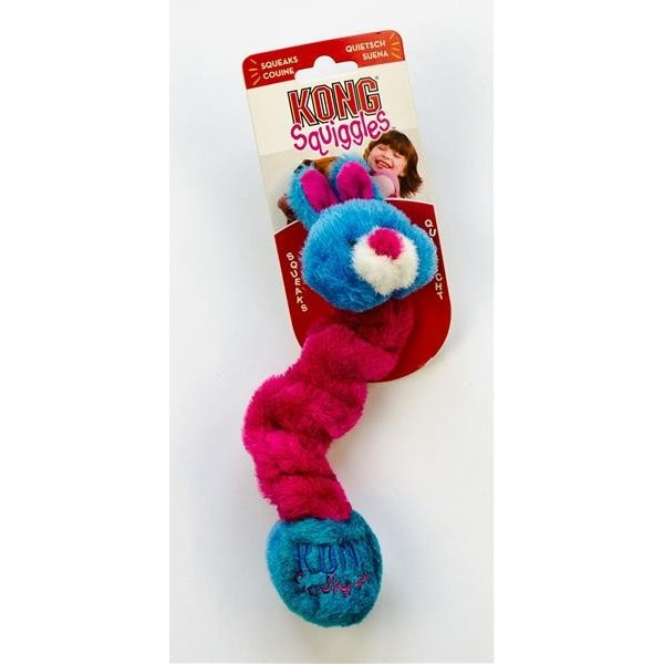 Hračka plyš Squiggles Zvíře natahovací Kong small