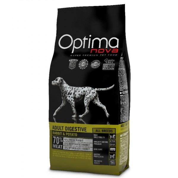 OPTIMAnova dog ADULT DIGESTIVE GF Rabbit 2kg-Z