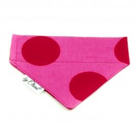 """Šátek na obojek """"Dunloe"""" růžový vel. S"""
