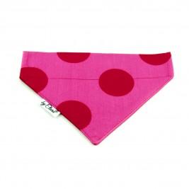 "Šátek na obojek ""Dunloe"" růžový vel. M"