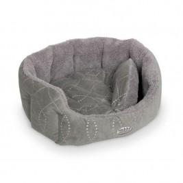 """Pelech 8 hran textil """"Ceno"""" - šedý Nobby 55 x 50 x 21 cm"""