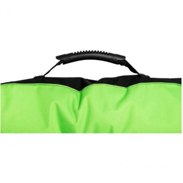 Matrace nylon Boseň zelená neon s tlapou 90 x 60 x 12 cm