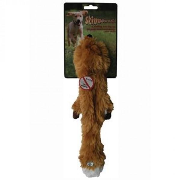 Hračka pes Liška pískací 38cm Skinneeez