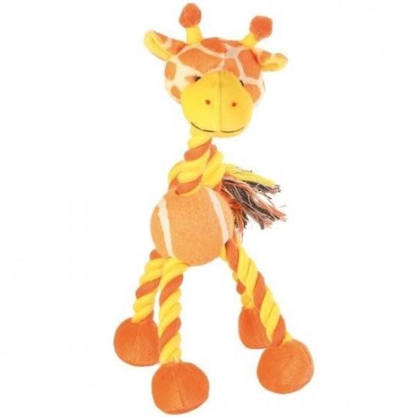 Žirafa s tenisovým míčem 28cm