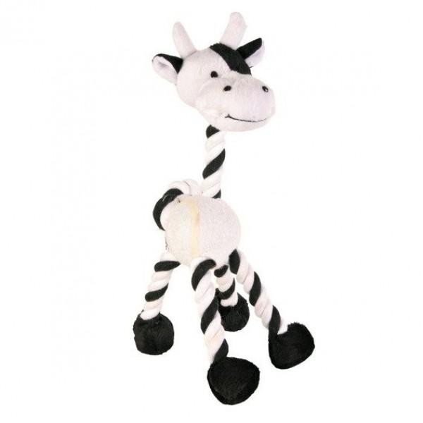 Žirafa/kravička s tenisovým míčem 28cm