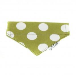 """Šátek na obojek """"Ennis"""" zelený vel. XS"""