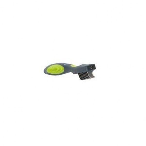 Hřeben prořezávač plast zelený Buster 9 zubů
