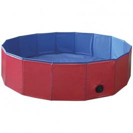 Nobby bazén pro psa skládací červený M 120x30cm
