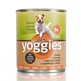 Yoggies Active zvěřinová konzerva s dýní a pupálkovým olejem 400
