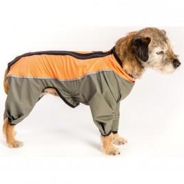 """Obleček - Kombinéza """"Trekky""""funkční pláštěnka šedo-oranžová 36 c"""