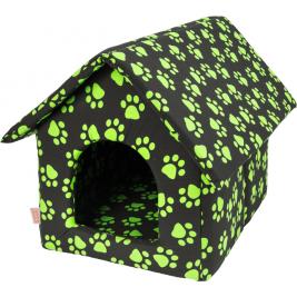 Bouda bavl.Tlapa černo/zelená 50 x 60 cm