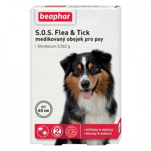 Beaphar obojek S.O.S. Flea & Tick pro psy 65cm