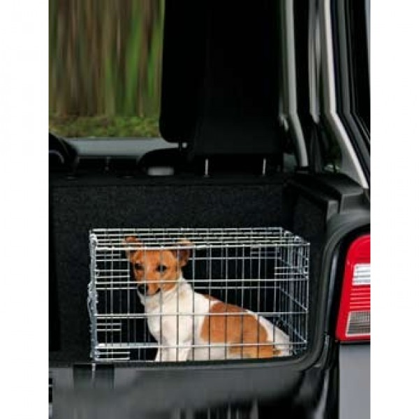 Trixie Klec do auta pro psa kovová 64x54x48cm 2x dveře