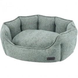 Nobby NEVIS komfortní oválný pelíšek zeleno-šedý 55x50x21cm