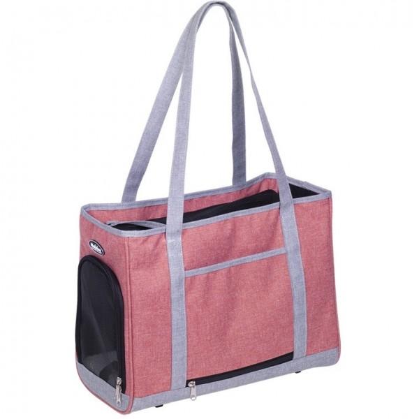 Přepravní taška TOMMA starorůžová-šedá 40x22x28 cm