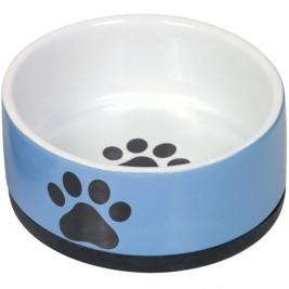 Nobby keramická miska PAW s protiskluzem modrobílá 17 x 8,0 cm/1