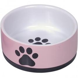 Nobby keramická miska PAW s protiskluzem růžová 14 x 6,5 cm / 0,