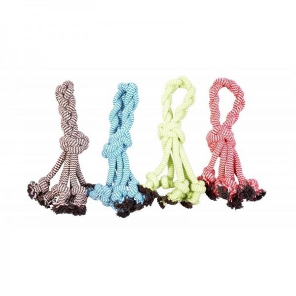 Hračka lano Chobotnice uzel s poutkem DUVO+ 30,5 cm