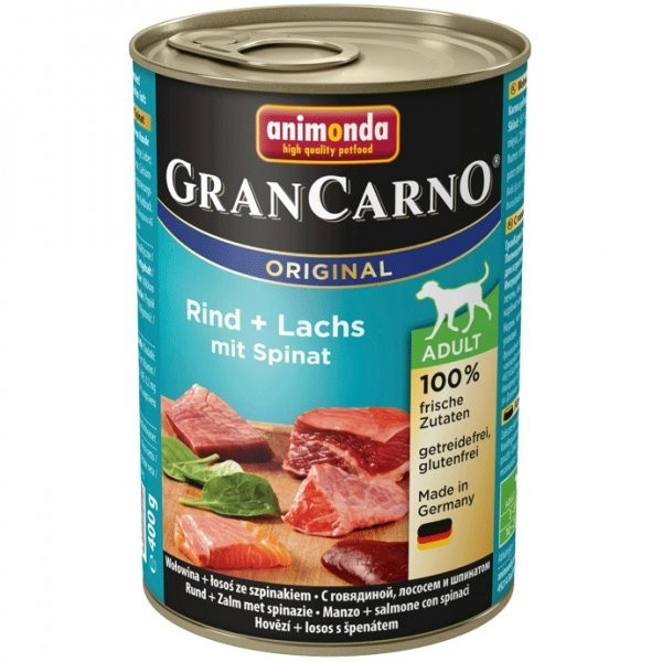 Animonda GranCarno dog konz. - losos, špenát 400 g