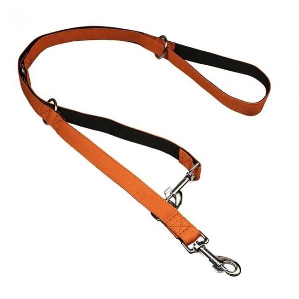 Vodítko nylon přep. černo/oranžové B&F 2,5 x 240 cm