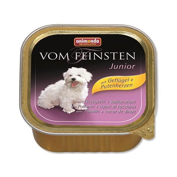 Animonda VomFeinsten dog van.Junior - drůbež,srdce 150 g