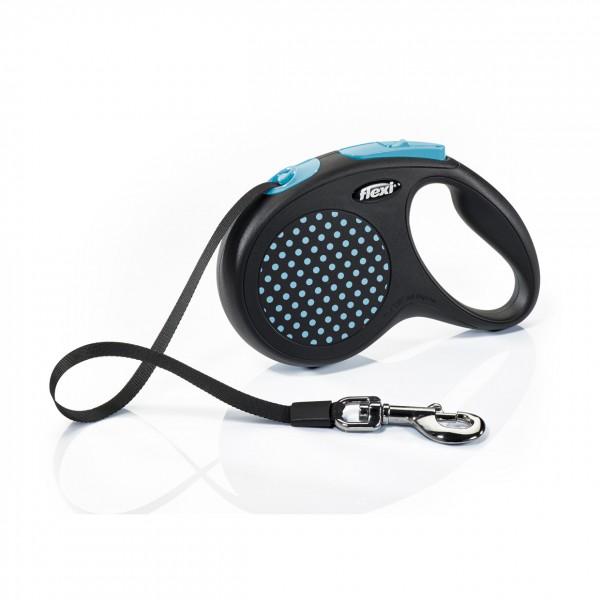 Vodítko FLEXI Design S pásek 5m modrá