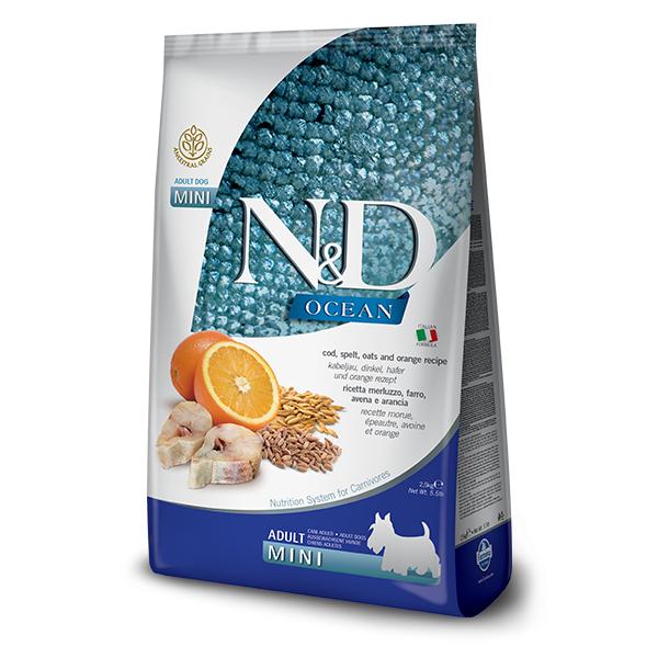N&D Low Grain Dog Adult Mini Codfish & Orange 0,8 kg