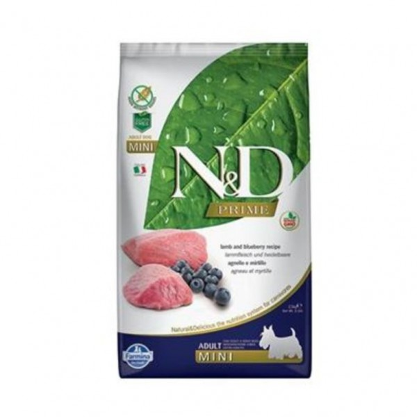 N&D Grain Free Dog Adult Mini Lamb & Blueberry 2,5 kg