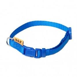 Obojek puppy nylon rozlišovací - modrýB&F 1,00 x 18-28 cm