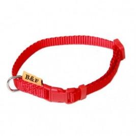 Obojek puppy nylon rozlišovací - červený B&F 1,00 x 18-28 cm