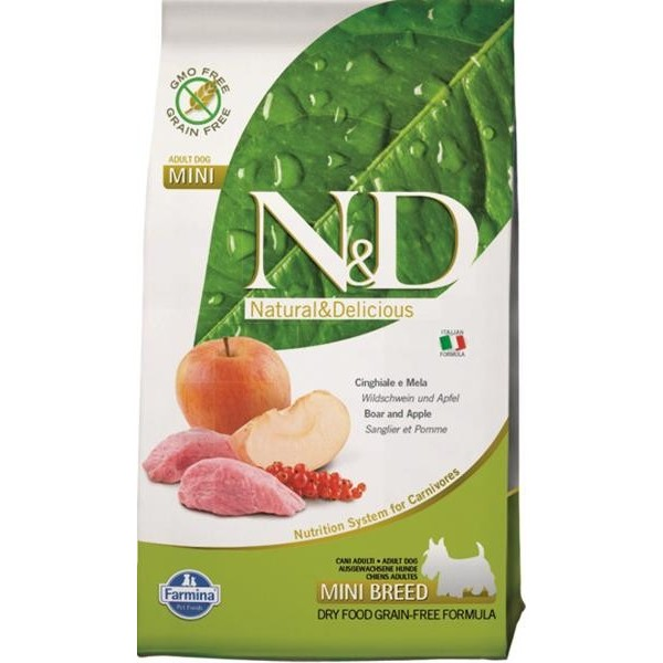 N&D Grain Free Dog Adult Mini Boar & Apple 0,8 kg