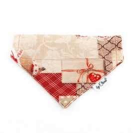 "Šátek na obojek ""Christmas Gift"" vel. M"