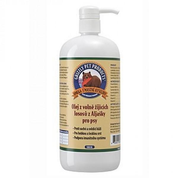 Lososový olej pes Grizzly Wild Salmon 1000ml