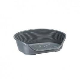 Pelech plast SIESTA DLX 6 tm.šedý 70,5x52x23,5cm FP1ks