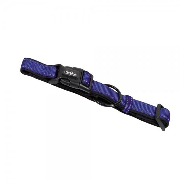 Obojek neopren Classic reflect soft 20-30 cm modrý