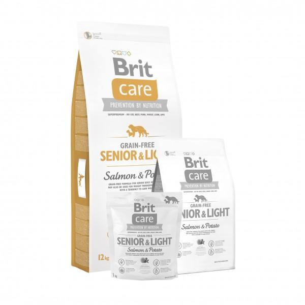 Brit Care Dog Grain-free Senior Salmon & Potato 12kg