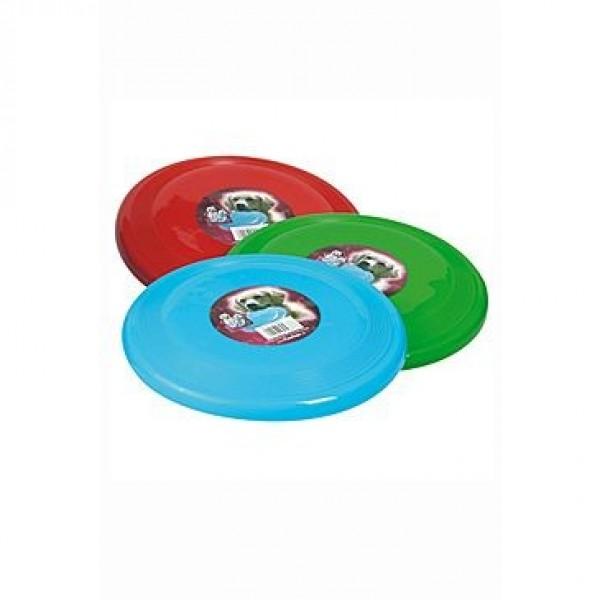 Hračka pes létající talíř plast 23cm různé barvy KAR