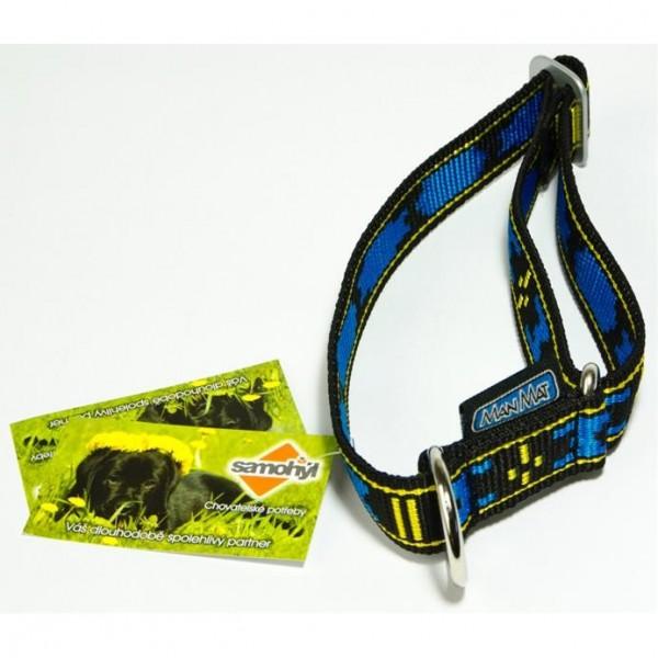 Obojek nylon Standard - modro/černý ManMat 28-50 cm