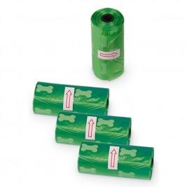 TidyUp Bone sáčky na trus 4 ks zelená