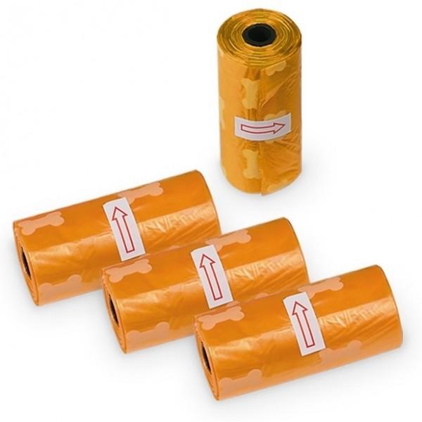 TidyUp Bone sáčky na trus 4 ks oranžová