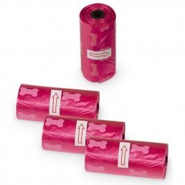 TidyUp Bone sáčky na trus 4 ks růžová