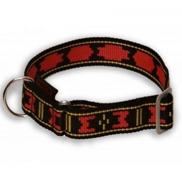 Obojek nylon Standard - červeno/černý ManMat 28-50 cm