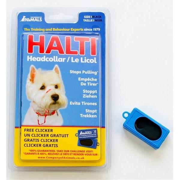 Ohlávka nylon Halti + Clicker vel. 1 - westík, jezevčík