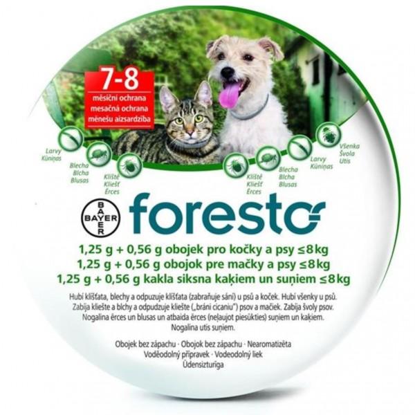 Foresto 1,25g+0,56g obojek pro kočky a psy do 8kg obojek 1ks 38